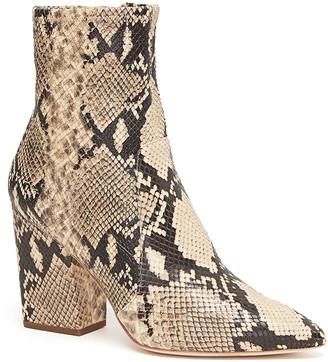 Loeffler Randall Isla Slim Snake-Print Ankle Booties