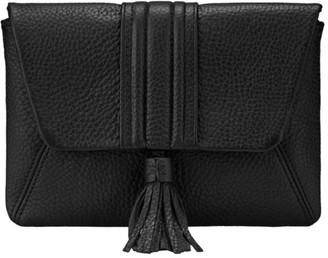 GiGi New York Ava Pebbled Leather Clutch