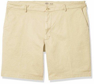 "Izod Men's Big & Tall Big and Tall Saltwater 9.5"" Flat Front Chino Short"