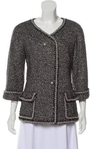 Chanel Double-Breasted Metallic Jacket
