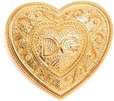 Dolce & Gabbana Logo-embellished heart brooch
