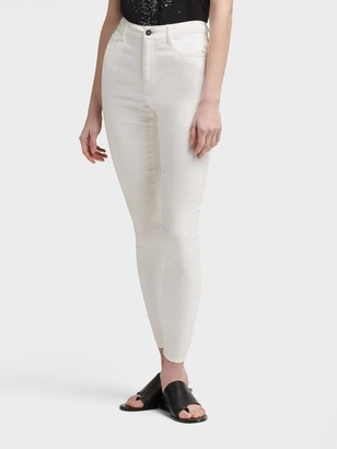 DKNY Women's Mid-rise Skinny Ankle Jean - White Combo - Size 29