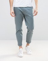Dr. Denim Rigid Slim Tapered Chino With Turn Up