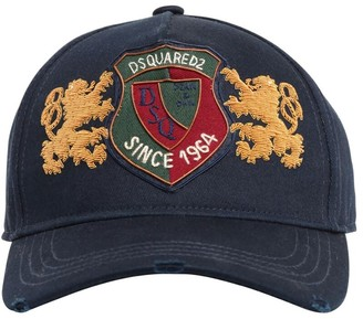 DSQUARED2 Crest Patch Cotton Baseball Hat
