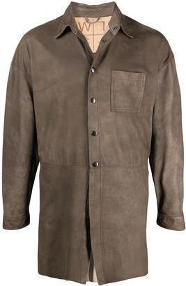 Giorgio Brato Button-Up Leather Shirt Jacket