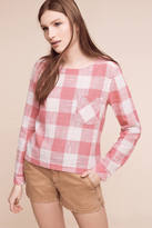 Cloth & Stone Gingham Button-Back Top
