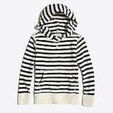 J.Crew Factory Boys' striped popover hoodie