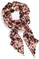 Sole Society Women's Floral Print Skinny Scarf