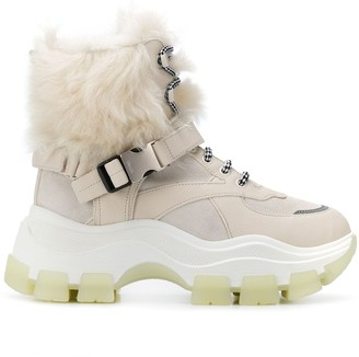 Prada Block lace-up boots