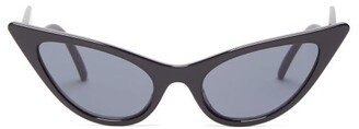 Le Specs The Prowler Cat-eye Acetate Sunglasses - Womens - Black