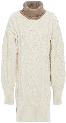 Joseph Oversized Ribbed And Cable-knit Merino Wool-blend Turtleneck Sweater