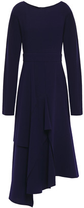 Chalayan Asymmetric Crepe Midi Dress