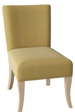 Brooke Upholstered Dining Chair Hekman Body Fabric: 4041-074, Leg Color: Antique Vanilla