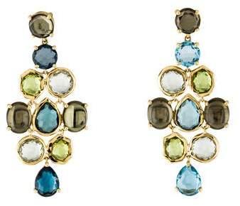 Ippolita 18K Rock Candy Gelato Tartan Chandelier Earrings