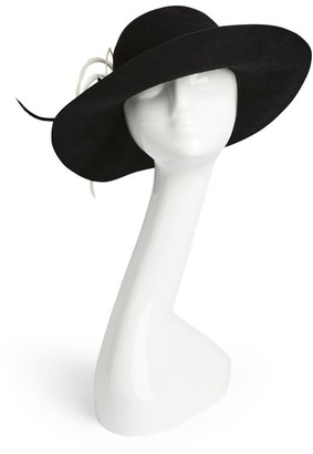Marzi Wide-Brim Feather Hat