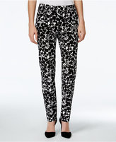 Charter Club Petite Printed Slim-Fit Ankle Pants, Only at Macy's