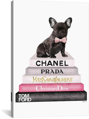 iCanvas icanvasart Bookstack & French Bulldog By Amanda Greenwood