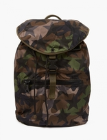 Valentino Khaki Camustar Nylon Backpack
