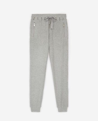 The Kooples Light grey joggers with zipped pockets