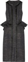 Altuzarra Eland metallic tweed peplum dress