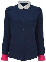 Equipment colour block blouse