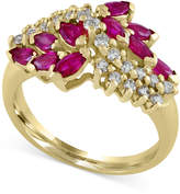 Effy Ruby Royale by Ruby (1-1/8 ct. t.w.) and Diamond (1/3 ct. t.w.) Ring in 14k Gold, Created for Macy's