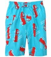 I Play Boys' Aqua Fire Truck Swim Diaper Pocket Trunks (6mos4yrs) - 8114075