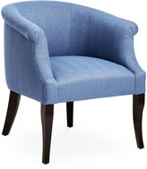 Brownstone Upholstery Tilly Accent Chair, Azure Herringbone