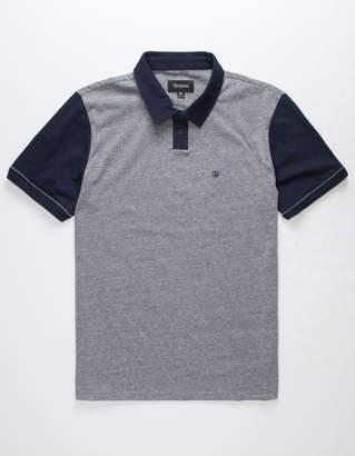 Brixton Carlos Gray & Navy Mens Polo Shirt