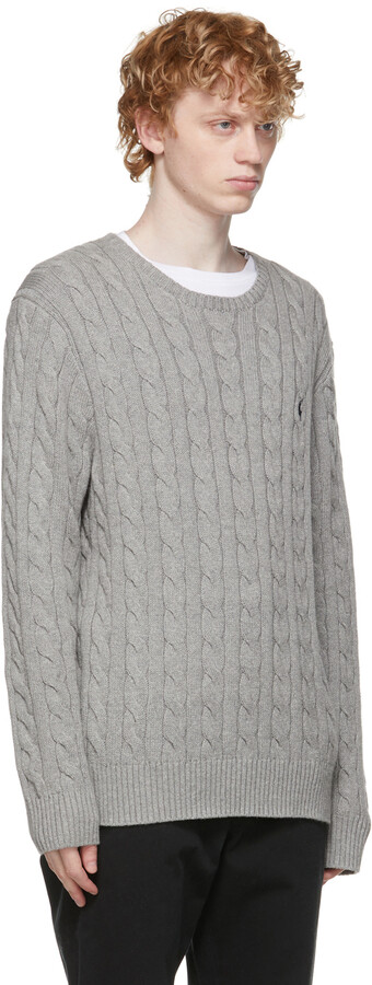 Thumbnail for your product : Polo Ralph Lauren Grey Cable Knit Sweater