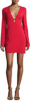 A.L.C. Eve Scalloped Stretch Crepe Dress, Crimson