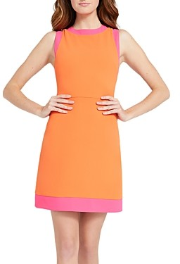 Alice + Olivia Truly Contrast Trim Sheath Dress