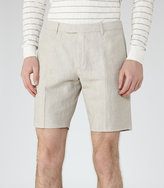 Reiss Reiss Valley - Linen And Cotton Shorts In White