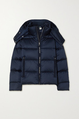 Tory Sport Oversized Hooded Quilted Shell Down Jacket - Navy