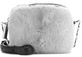 Christopher Kane Box Fur-embellished Leather Crossbody Bag