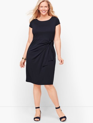 Talbots Faux-Wrap Jersey Shift Dress
