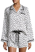 Kate Spade Flamingo Dot Shortie Pajama Set, White Dots