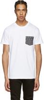 Naked & Famous Denim White Geometric Pocket T-Shirt
