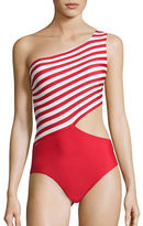 Michael Kors Stable Striped One-Piece Swimsuit