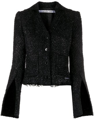 Alexander Wang Chain-Trimmed Fitted Jacket