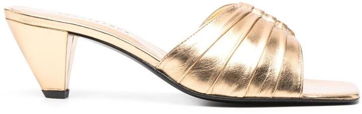 Dorateymur Metallic Square-Toe Sandals