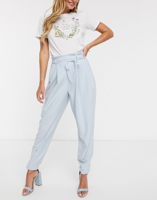 ASOS DESIGN clean pleat detail peg trouser in twill