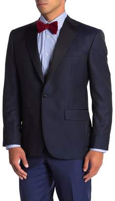David Donahue Reed Midnight One Button Notch Lapel Wool Tuxedo Jacket