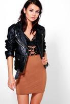 Boohoo Ava Basic Mini Skirt