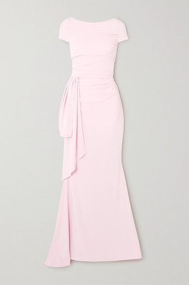 Talbot Runhof Bouvier Ruched Draped Crepe Gown - Pastel pink