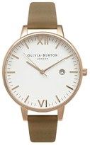 Olivia Burton Women's 'Timeless' Leather Strap Watch, 38Mm
