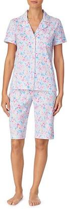 Lauren Ralph Lauren Floral Woven Bermuda Pajama Set