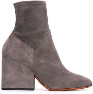 Santoni Chunky Heel Ankle Boots