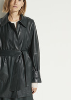 Short Leather Trench