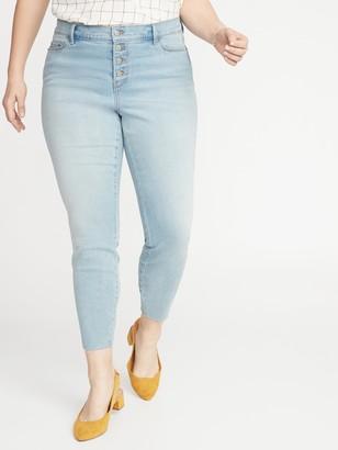 Old Navy High-Waisted Secret-Slim Pockets Button-Fly Plus-Size Rockstar Super Skinny Ankle Jeans
